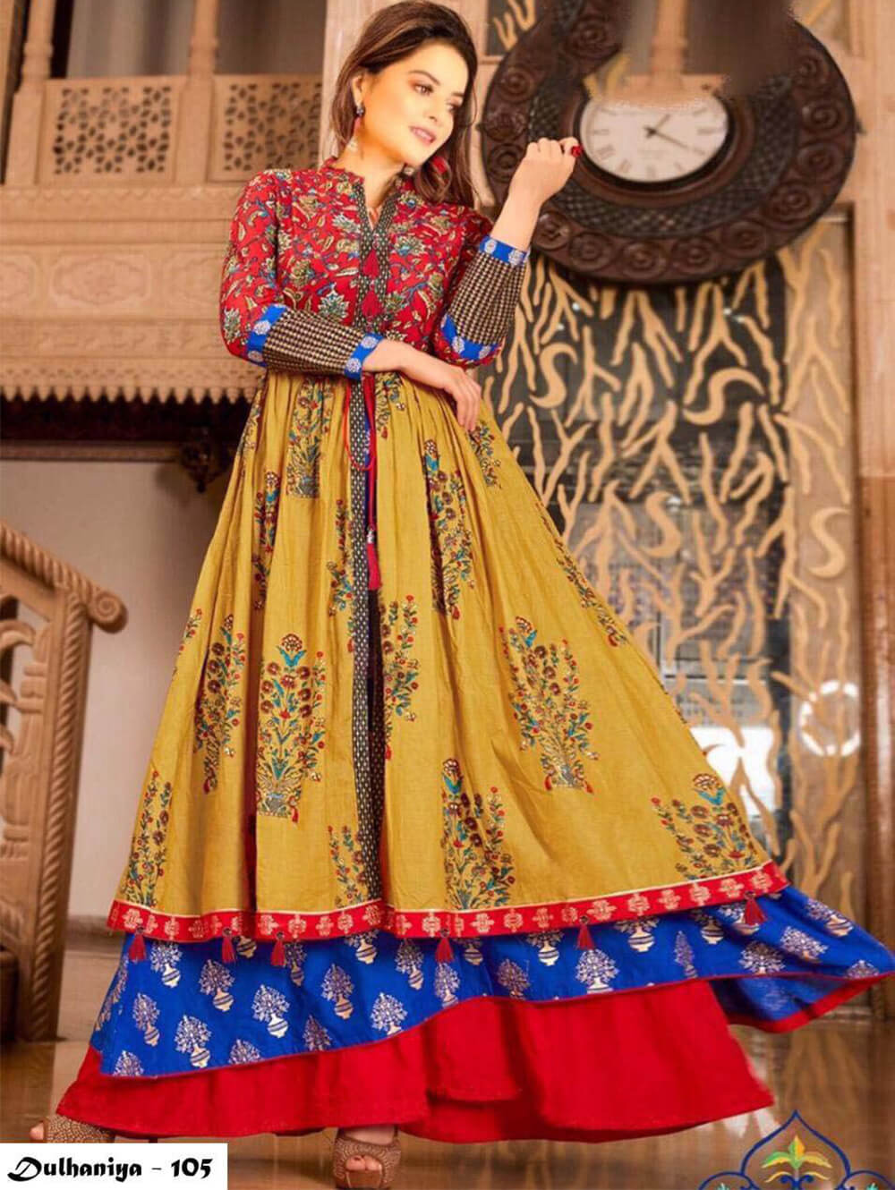 105 Exclusive Designer  Anarkali Style Kurti Collection