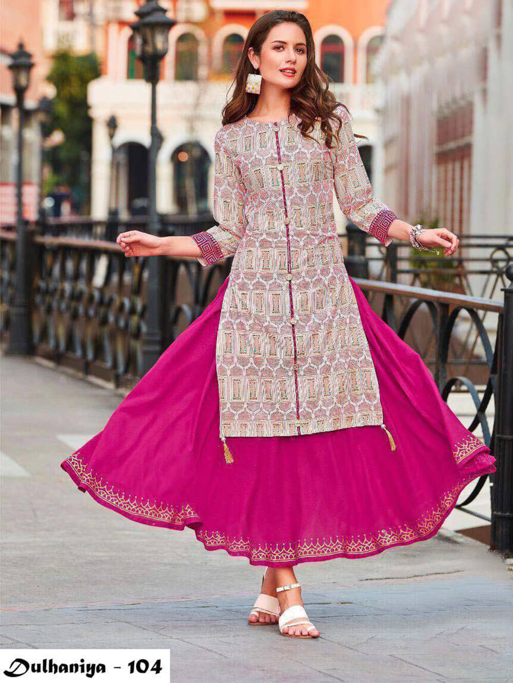104 Exclusive Designer  Anarkali Style Kurti Collection