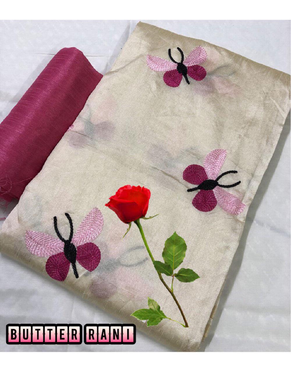 Zarna008  Butterfly Silk Cotton Saree Collection