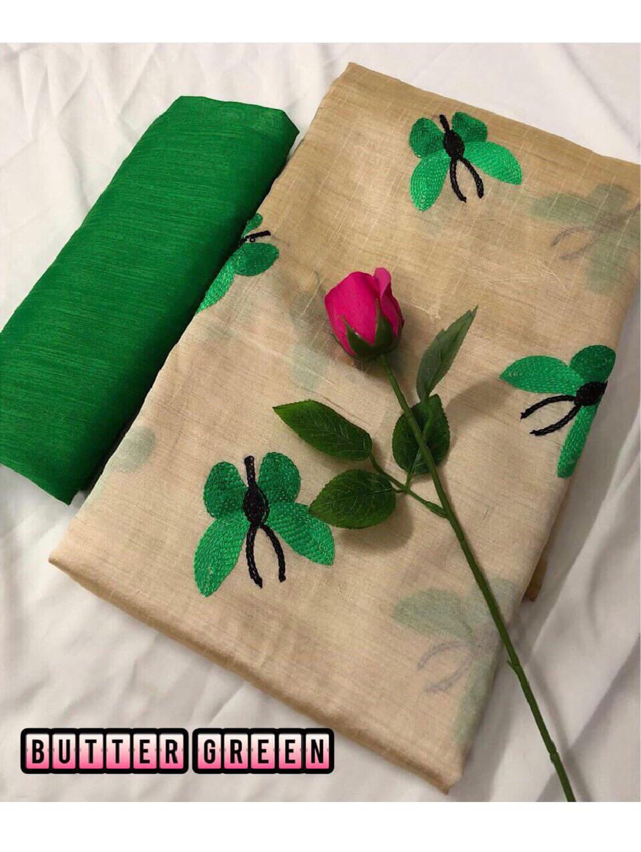Zarna006  Butterfly Silk Cotton Saree Collection