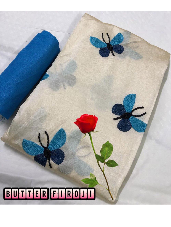 Zarna005  Butterfly Silk Cotton Saree Collection