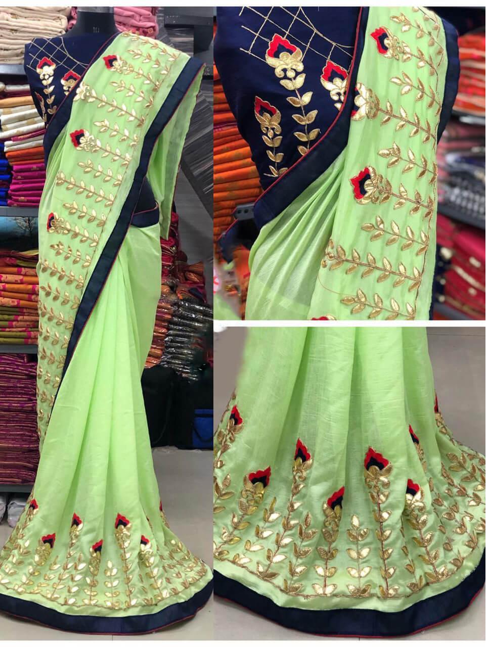 1269 A Designer Vichitra Silk Saree
