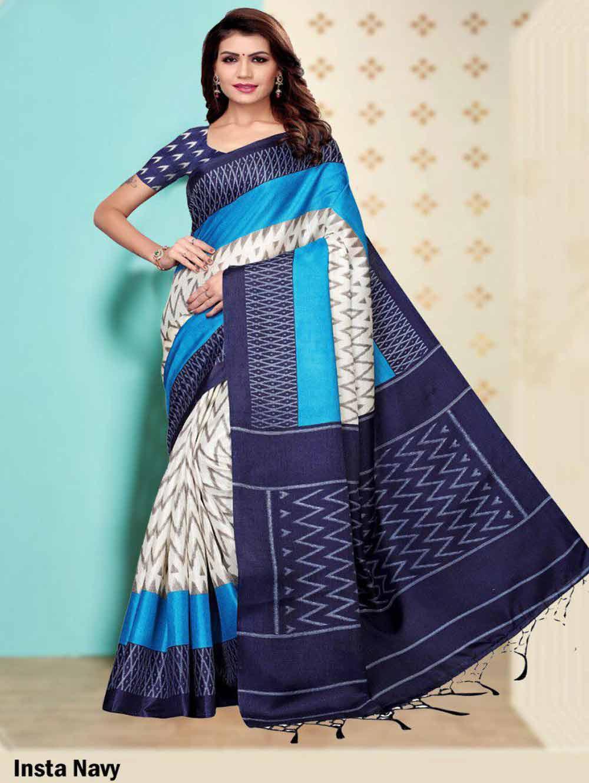 SAREE006 Insta Khadi Silk Designer Saree Collection