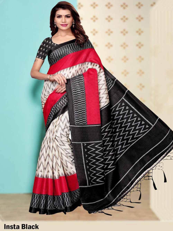 SAREE001 Insta Khadi Silk Designer Saree Collection