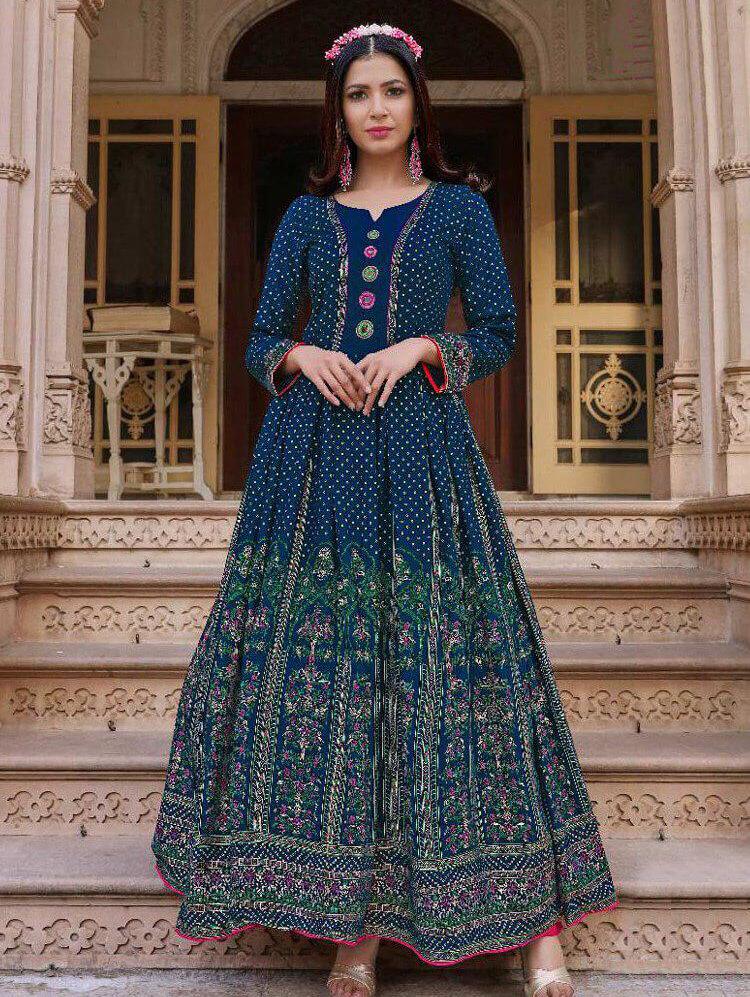 1001 Designer Heavy Rayon Anarkali Style Kurti