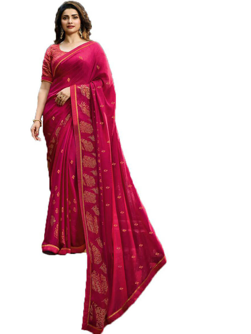 Fancy Daily Wear Rani Designer Saree
