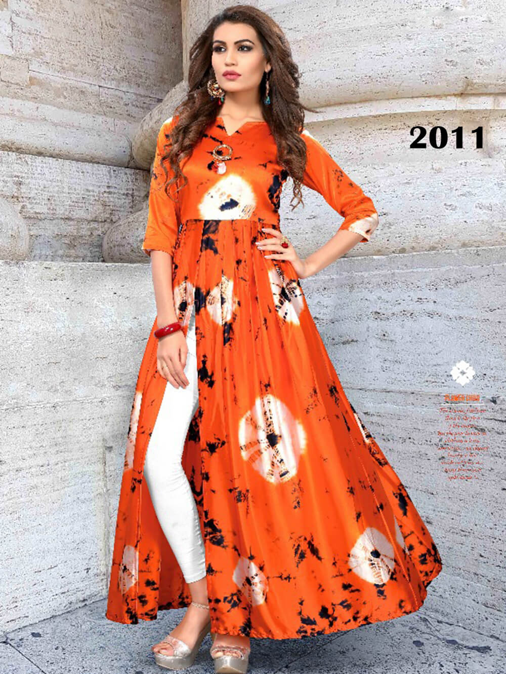 2011 XL Size Saffron Western Wear Gown