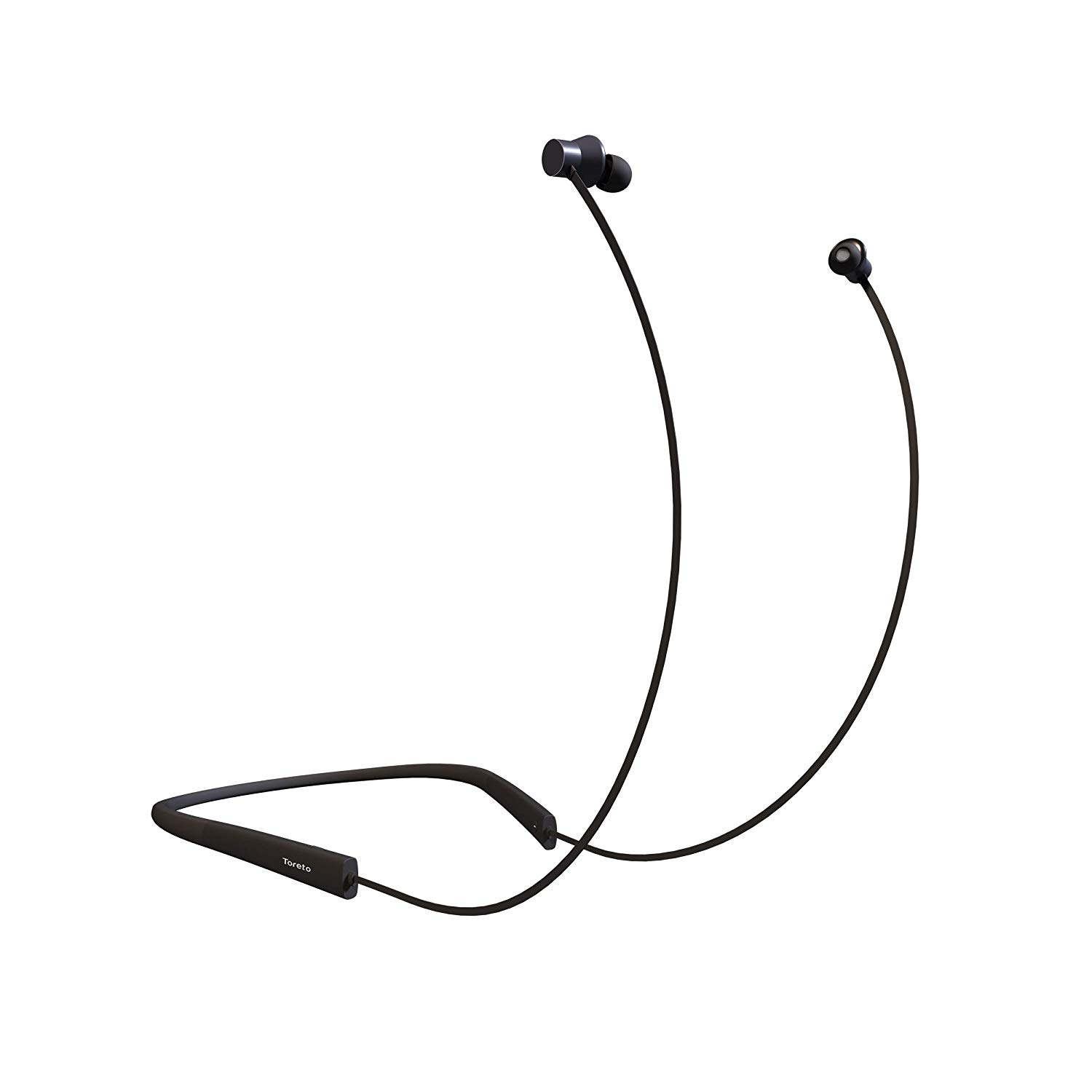 Toreto Blare Pro Wireless Magnetic Neckband, Bluetooth in Ear with Mic for Sports, Gym, Travellers and Music Lovers(TOR-805, Black)