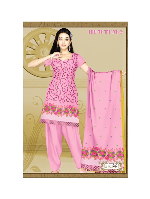 510HotPink Karachi Cotton Dress Material