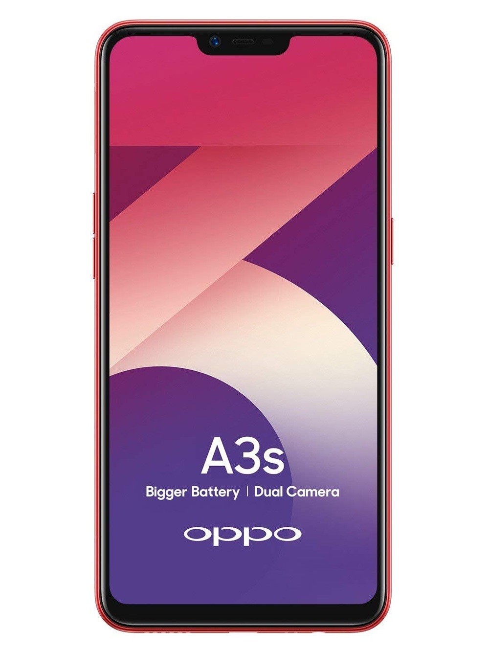 OPPO A3s (Red, 2GB RAM, 16GB Storage)
