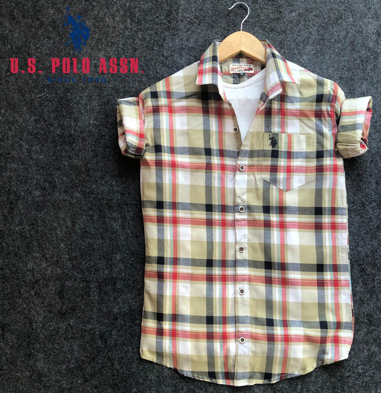 Quick mart US Polo ASSN Check Shirts for Men