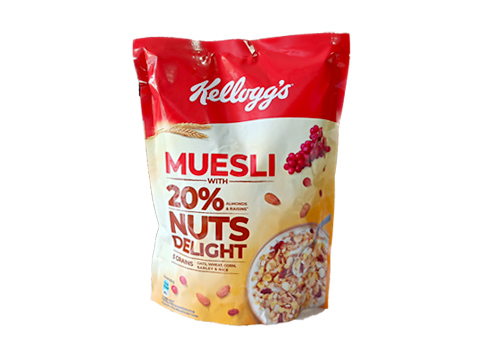 Kellogg's Muesli with 20% Nuts Delight Pouch, 500g