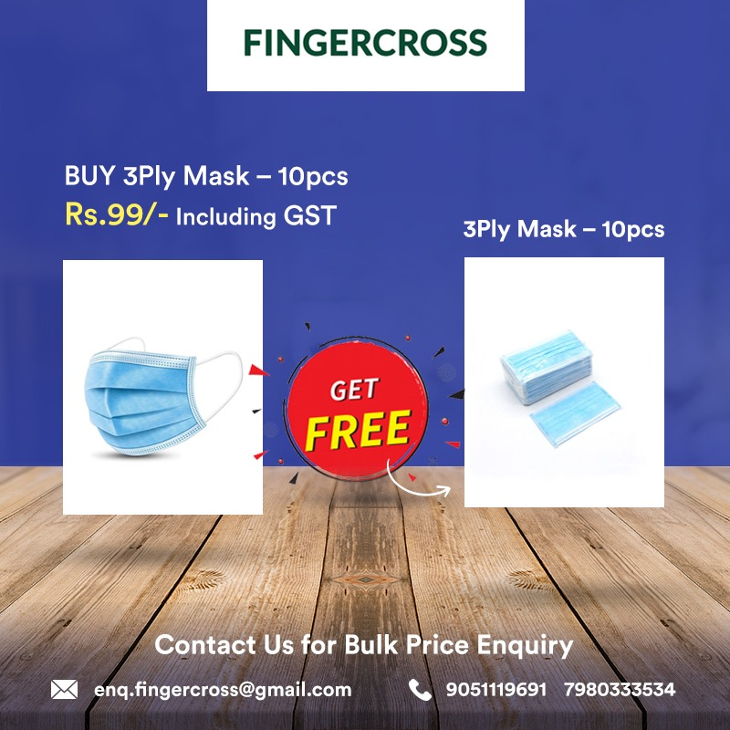 Buy 3 Ply Mask-10pcs Get Free