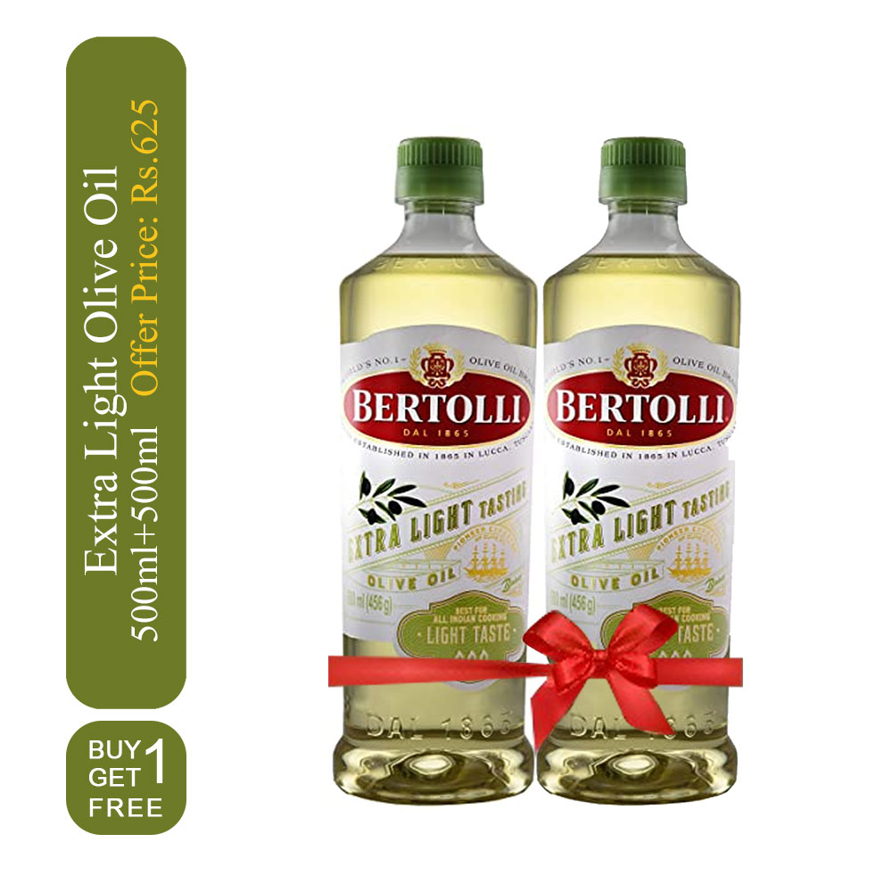 Bertolli Extra Light olive oil 500ml + 500ml