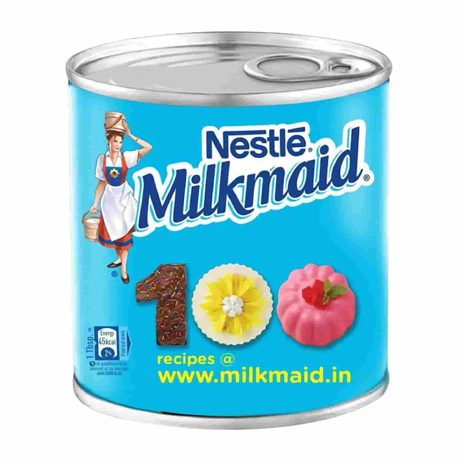 Nestle MILKMAID Sweetened Condensed Milk, Tin Pack