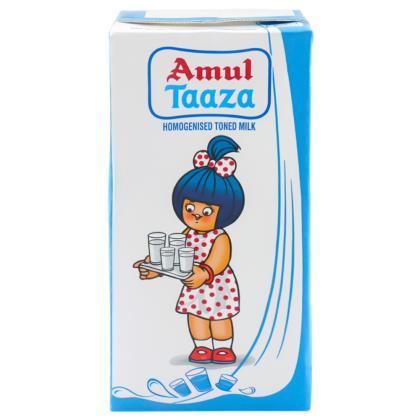 Amul Taaza Homogenised Toned Milk