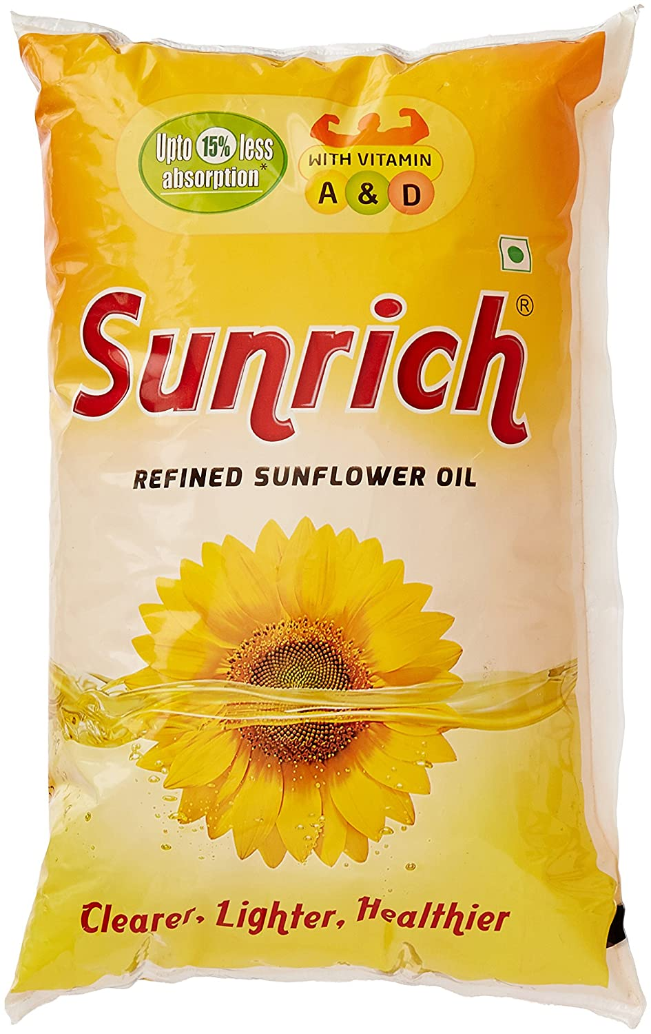 Sunrich Refined Sunflower Oil Pouch.