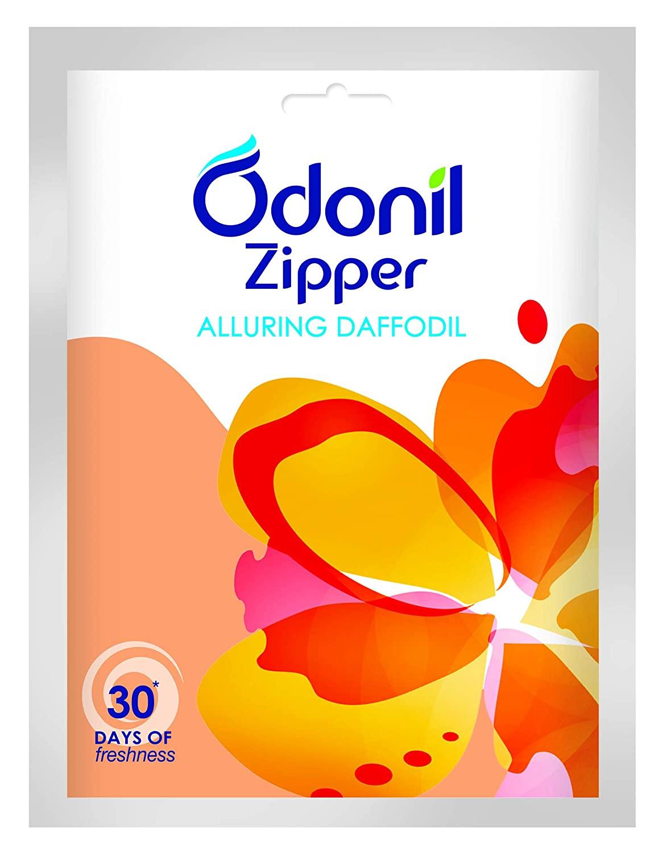 Odonil Bathroom Air Freshener Zipper - Alluring Daffodil
