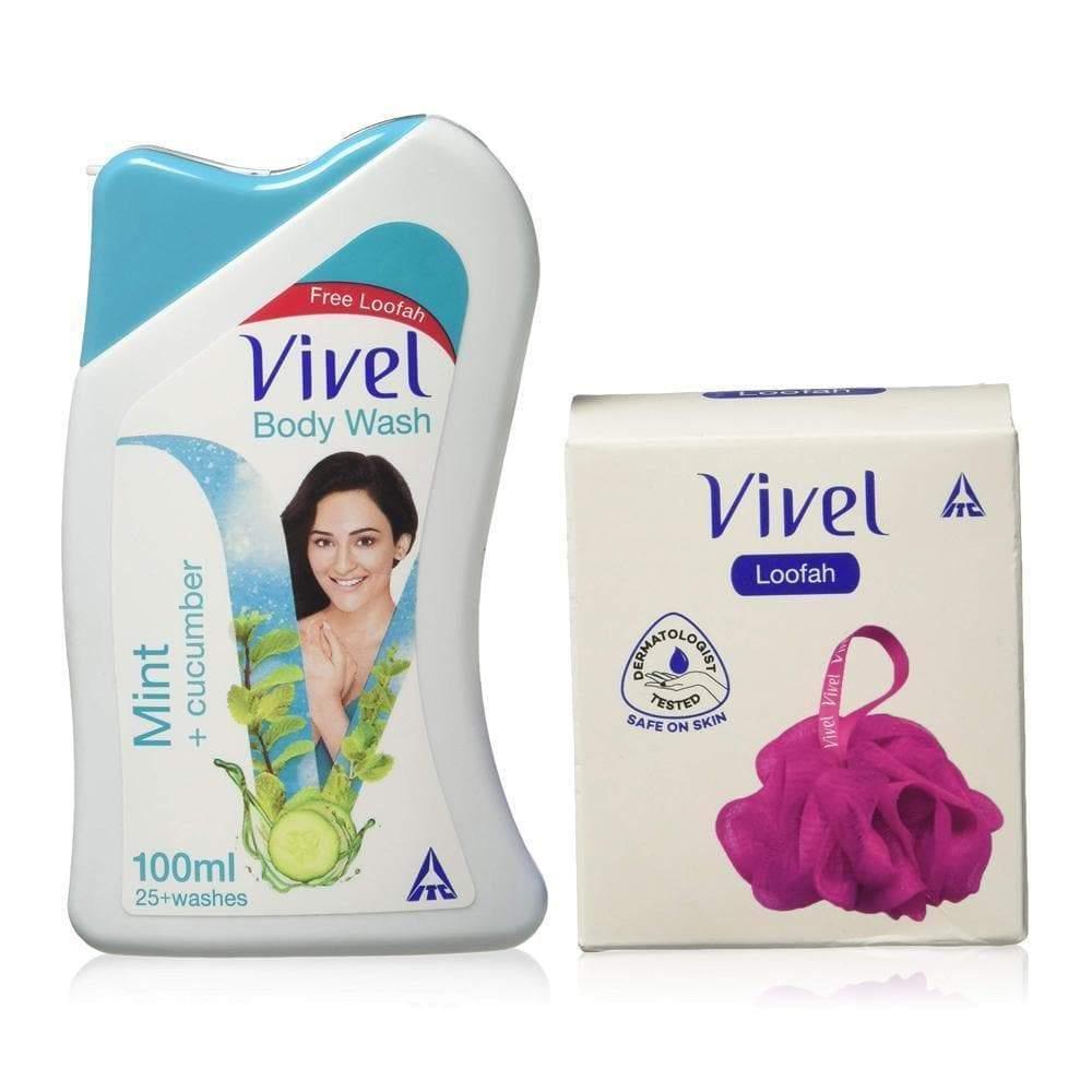 Vivel Mint + Cucumber, Body Wash +Loofah Free