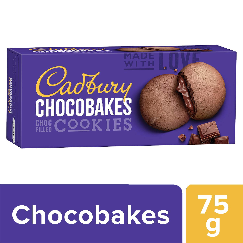 Cadbury Chocobakes Choc Filled Cookies.