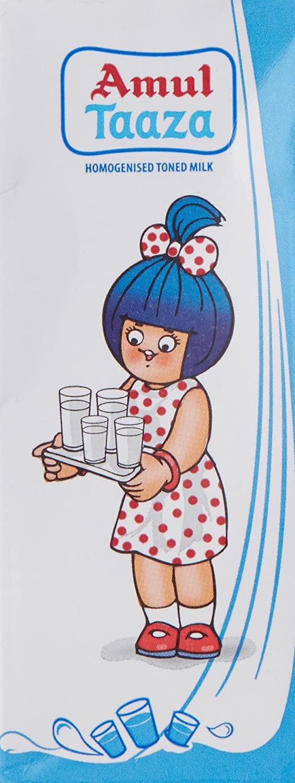 Amul Taaza Homogenized Milk, Toned.