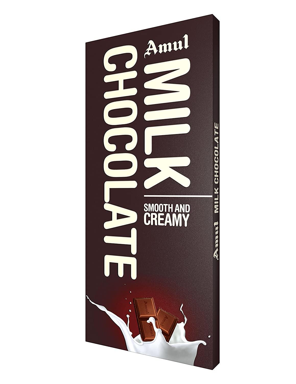 Amul Milk Chocolate Bars.