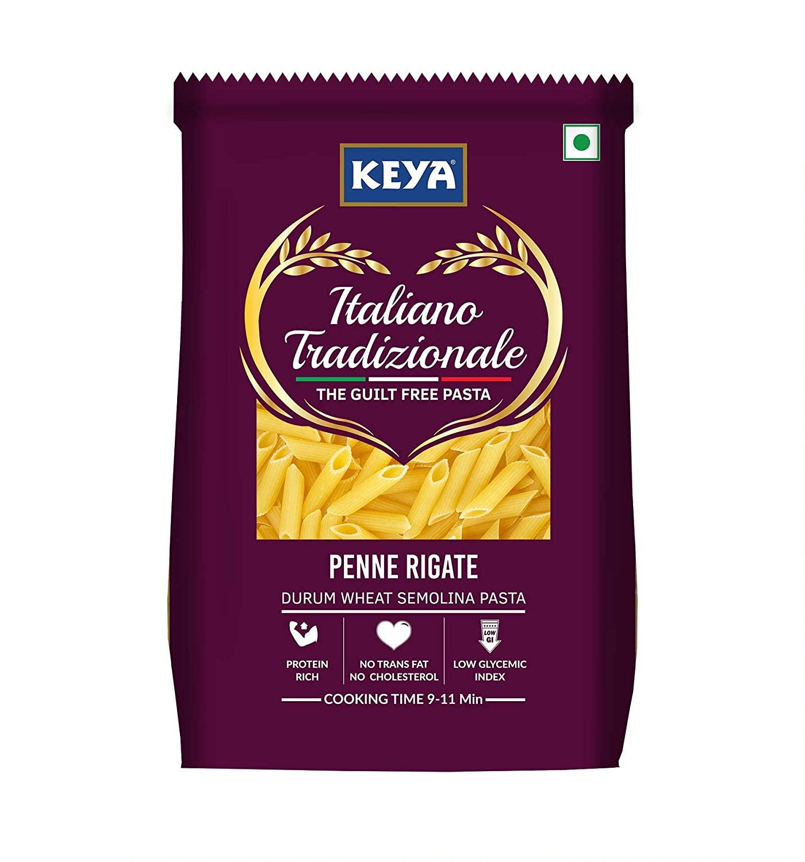 Keya Gourmet Penne Rigate Durum Wheat Pasta | 100% Pure and Natural.
