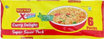 Wai Wai Curry Delight Instant Noodles Vegetarian.