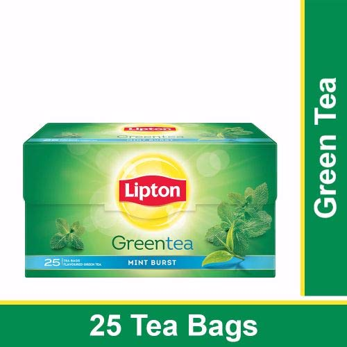 LIPTON GREEN TEA MINT BURST 25 BAGS Mint Tea Bags Box 25Bags