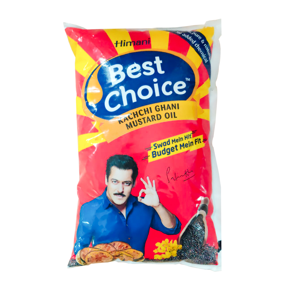 Best Choice Kachchi Ghani Mustard Oil Pouch