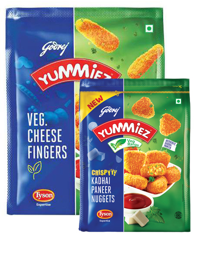 Yummiez Veg Cheese Fingers 400gm + Kadhai Paneer Nuggets 130gm Free