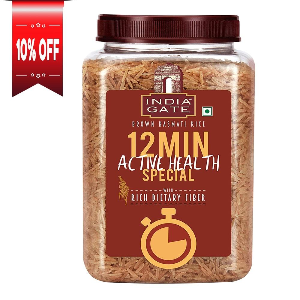India Gate Brown Basmati Rice (Jar)