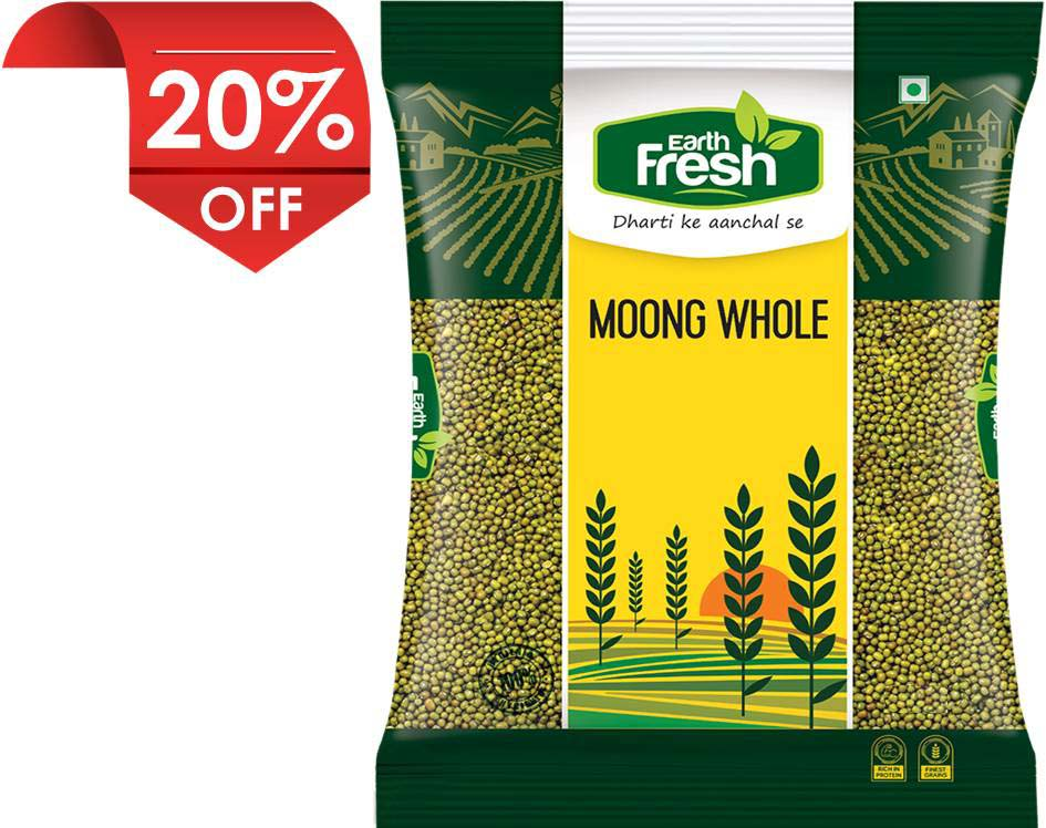 Earth Fresh Green Moong Whole