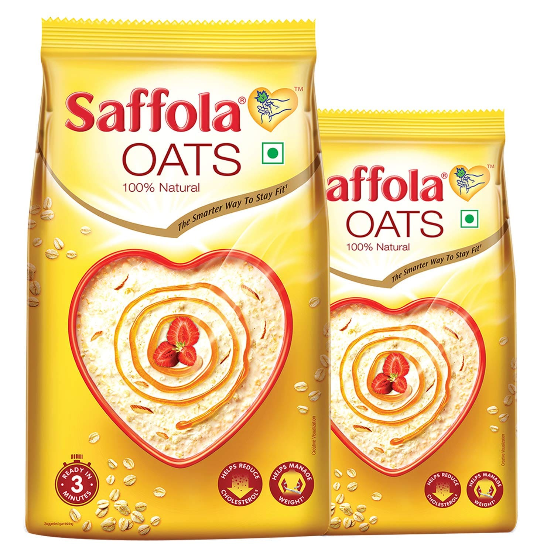 Saffola Oats 1Kg free Saffola Oats 400gm