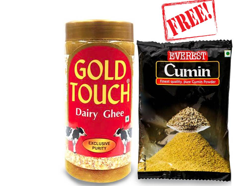 Gold Touch Ghee 100ml + Everest Cumin 10Gm Free