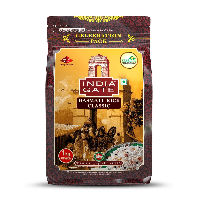 India Gate Basmati Rice Pouch, Classic