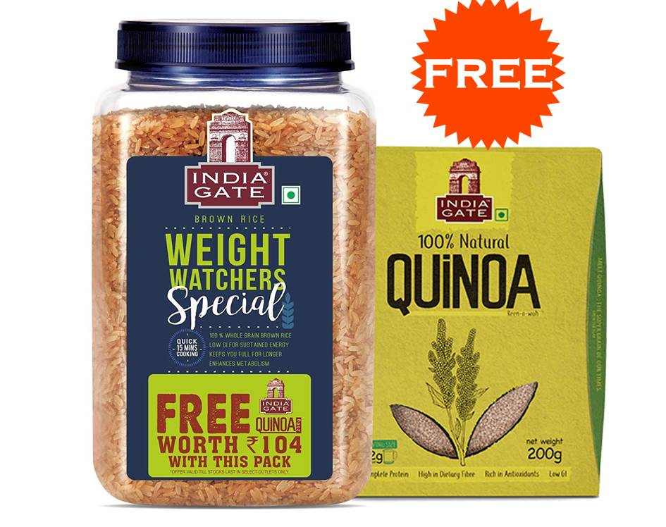 India Gate Brown Rice Weight Watchers Special + Quinoa 200Gm Free