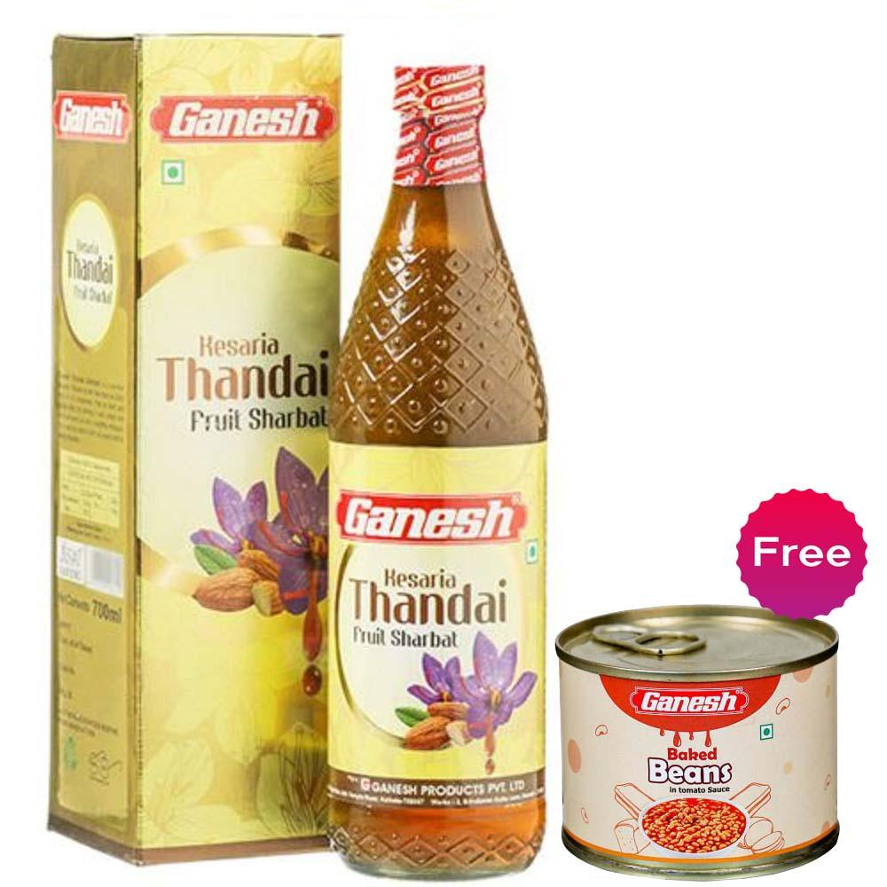 Ganesh Kesaria Thandai Sharbat + Baked Beans 200gm Free