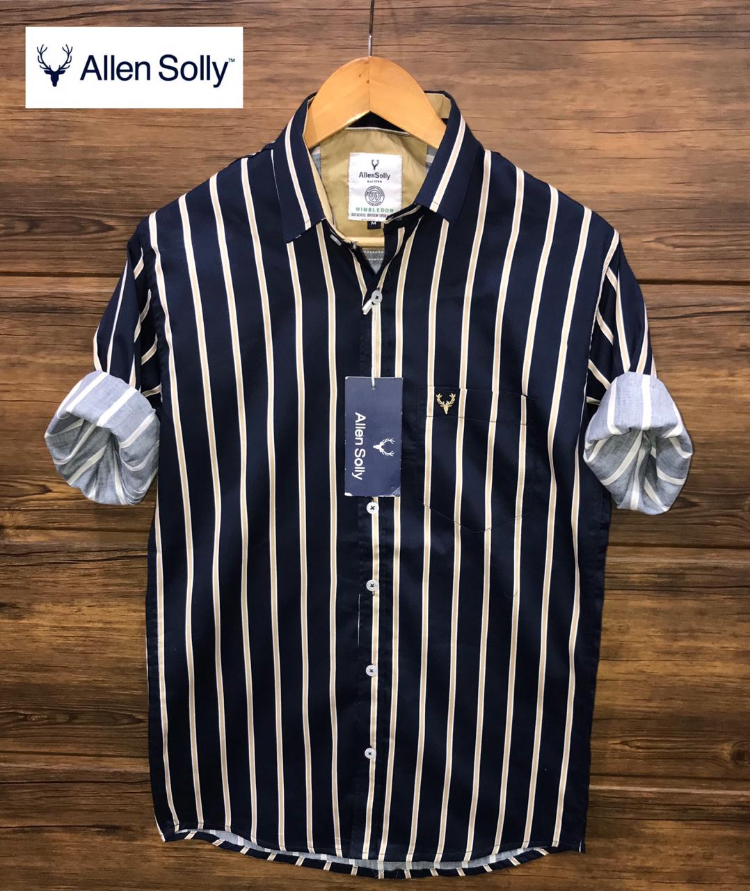 Allen Solly Shirts Black Slim High Quality Cutton