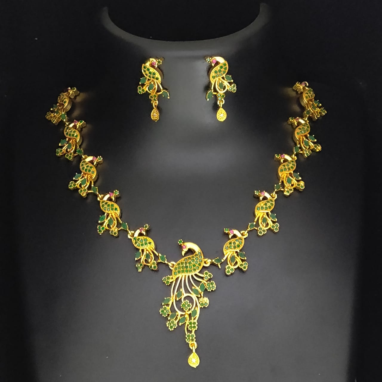 Antique Look  Peacock  Jewelry Necklace Set for Women