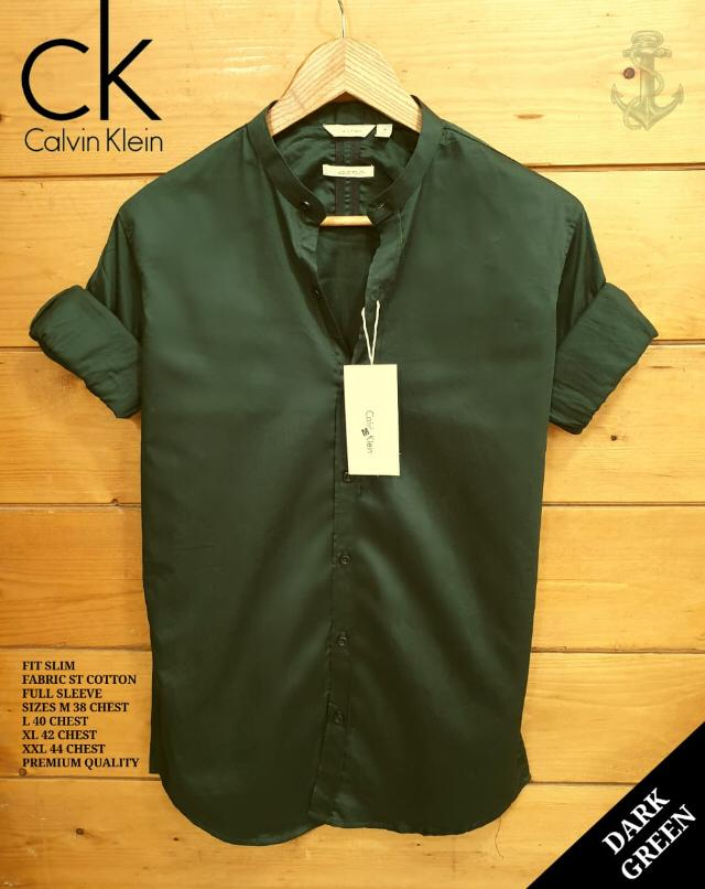 CK full sleeves Shirts ( D Green)