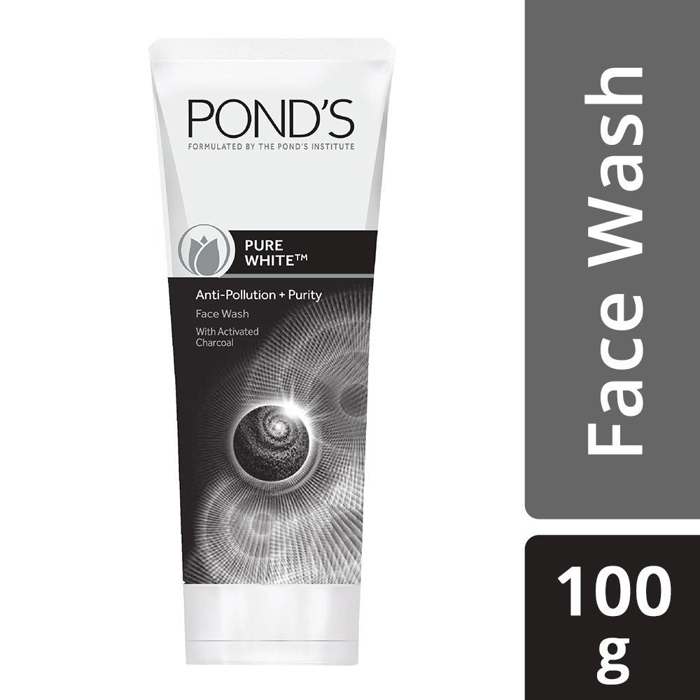 Ponds Pure White Anti Pollution Charcoal Facewash for Men