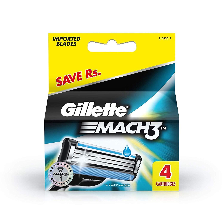 Gillette Mach 3 Cartidge (4 blade) 499/-