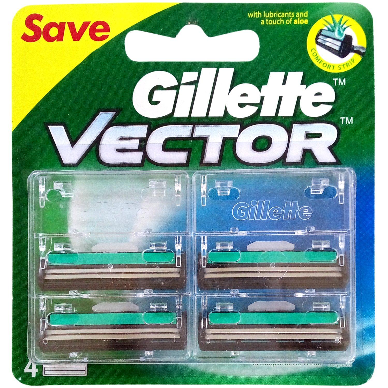 Gillette Vector Cartidge (4 blade) 120/-