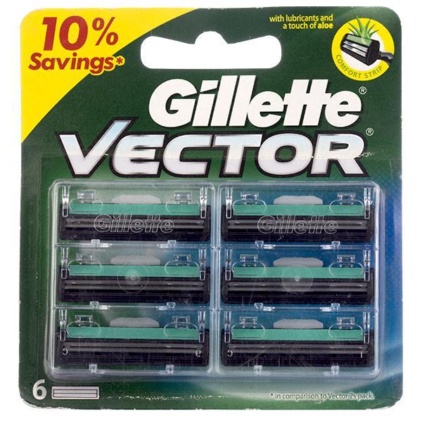 Gillette Vector Cartidge (6 blade) 165/-