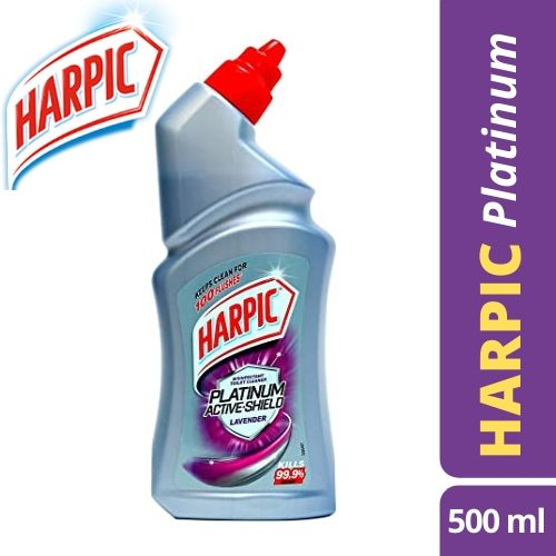 Harpic Platinum Active-Shield Toilet Cleaner, Lavender.