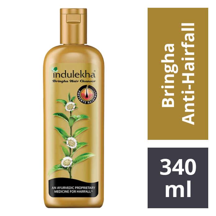 Indulekha Bringha Anti Hairfall Hair Cleanser Shampoo.