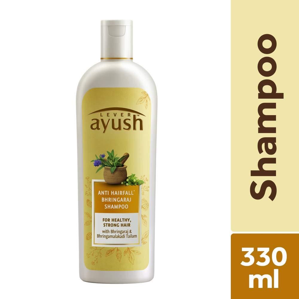 Ayush Anti Hairfall Bhringaraj Shampoo.