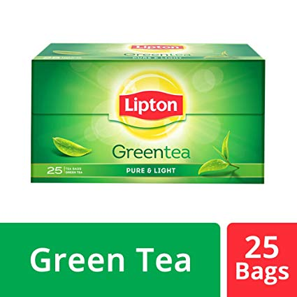 Lipton Green Tea Pure and Light Tea Bags, 25 Tea Bags.