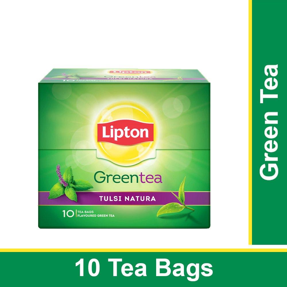 Lipton Green Tea Tulsi Natura 10 Tea Bags